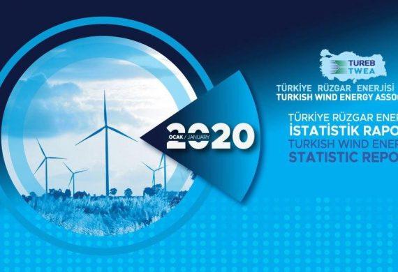 Türkiye Rüzgar Enerjisi İstatistik Raporu – Ocak 2020